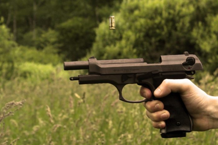 pistola para entrenar